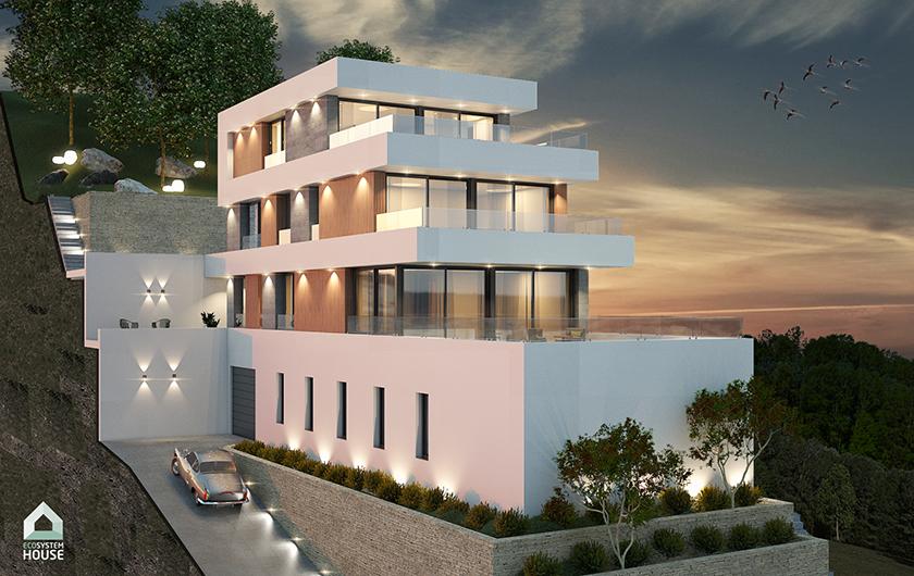 Espectacular proyecto en Badalona con visitas al mar. Vivienda de 321 m2 en 3 plantas + parquing de 150 m2